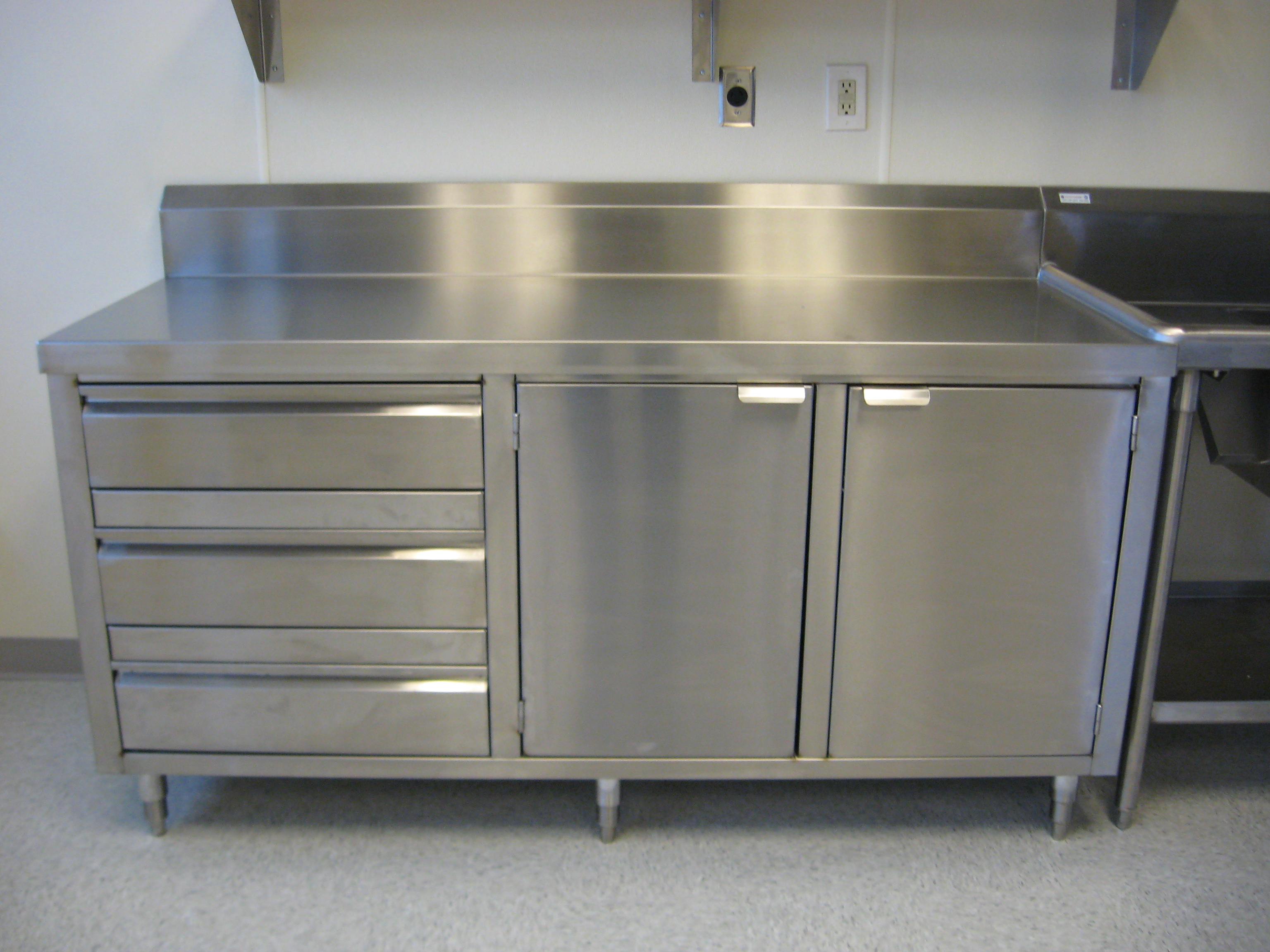 Stainless steel restaurant cabinets mf cabinets Metal kitchen cabinets